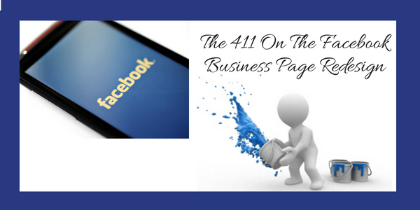 The 411 On The Facebook Page Redesign