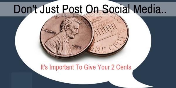 Don't Just Post On Social Media